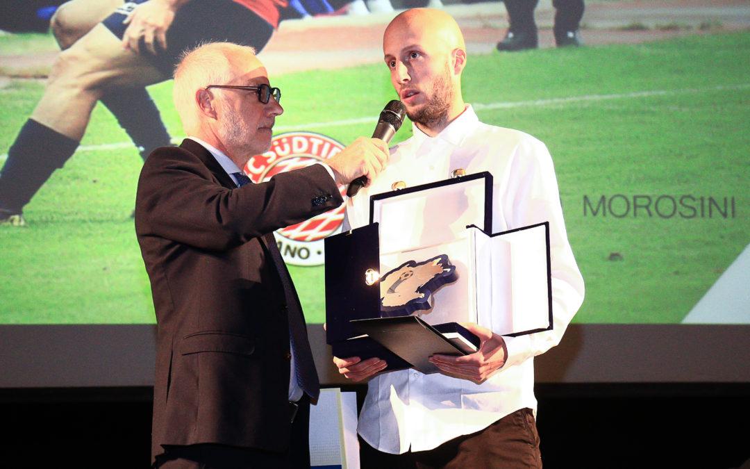 Morosini premiato al Galà del Calcio Triveneto