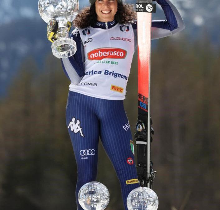Federica Brignone scende in campo per dare il suo contributo allo sport