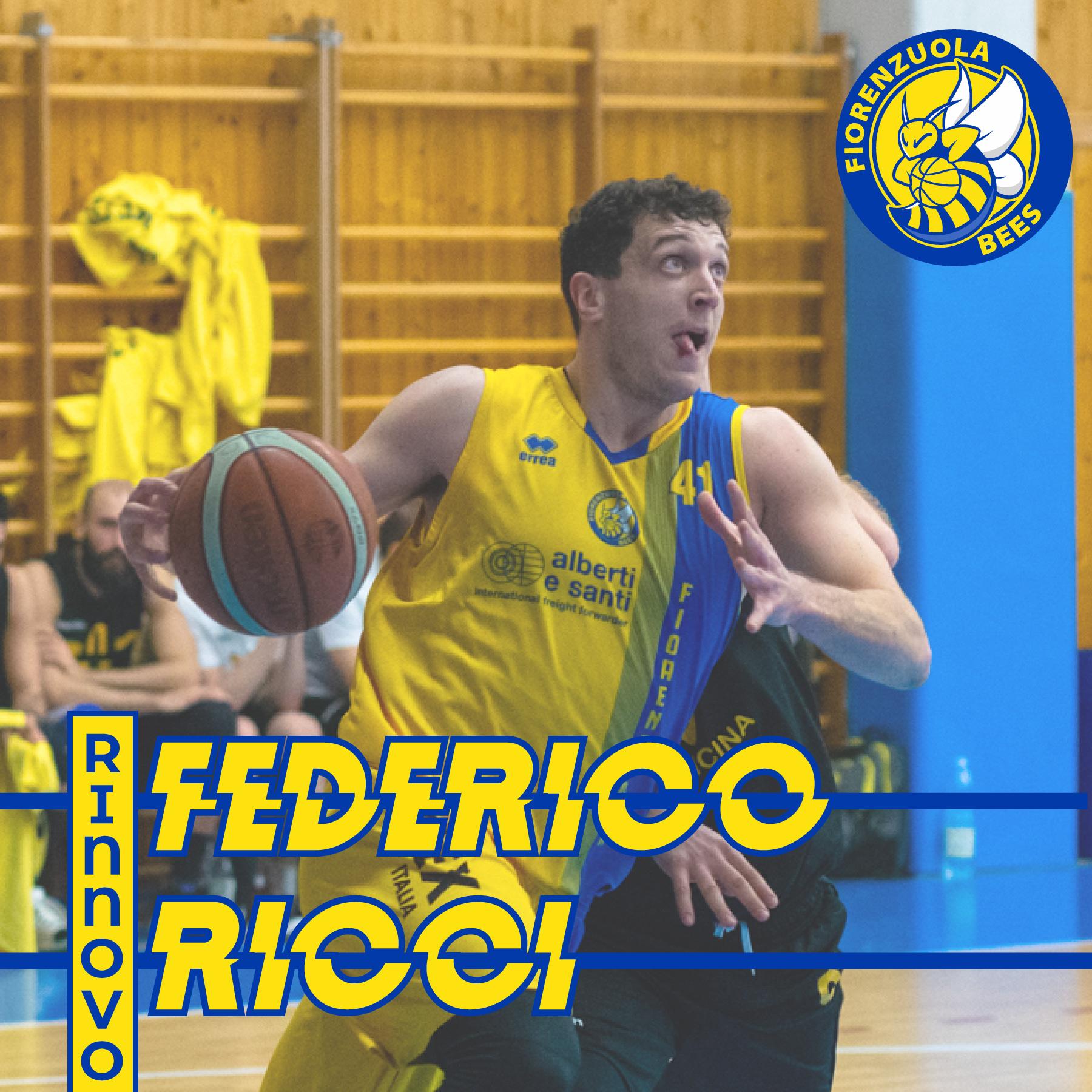 Federico Ricci rimane con i Fiorenzuola Bees
