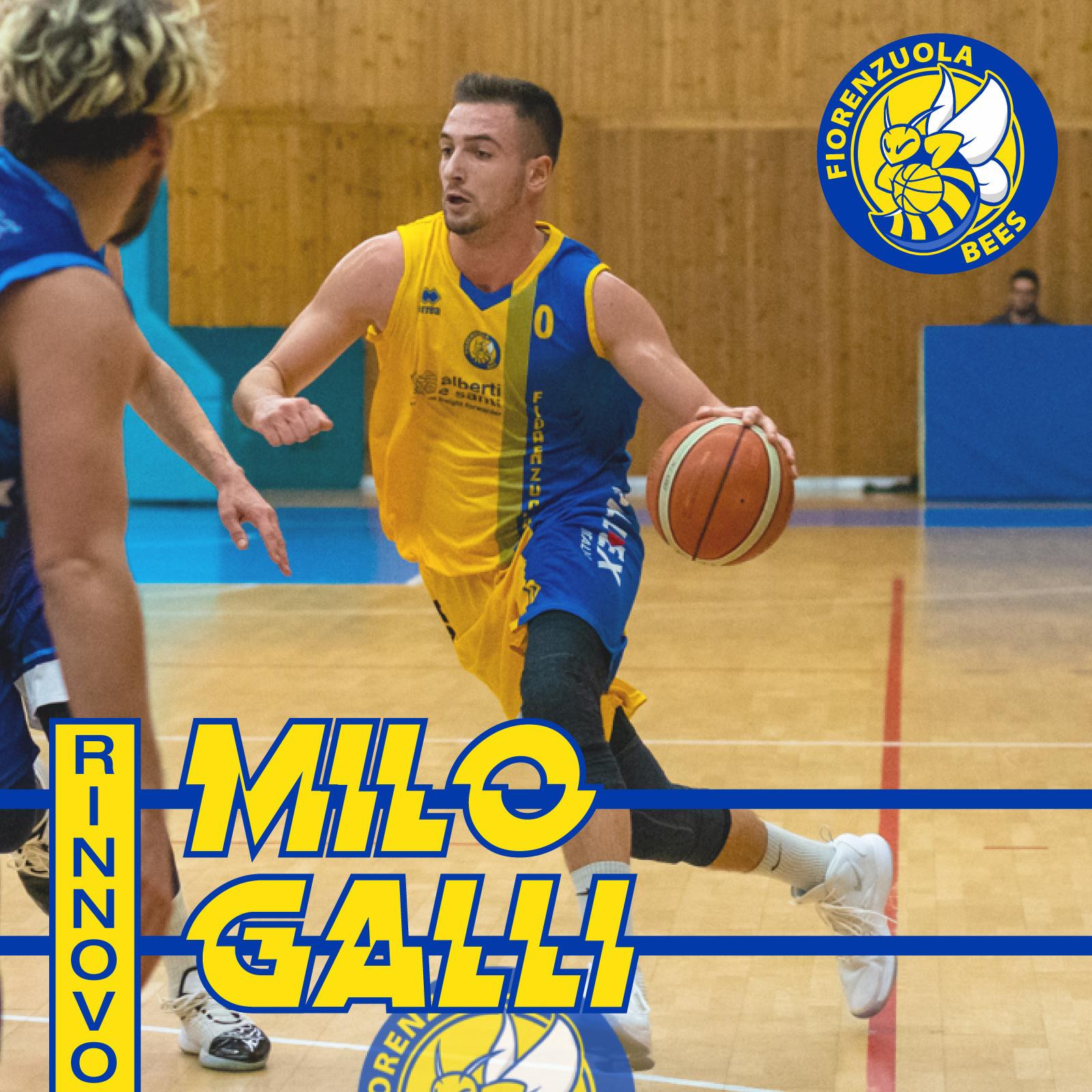Milo Galli è 5° stagione con i Fiorenzuola Bees