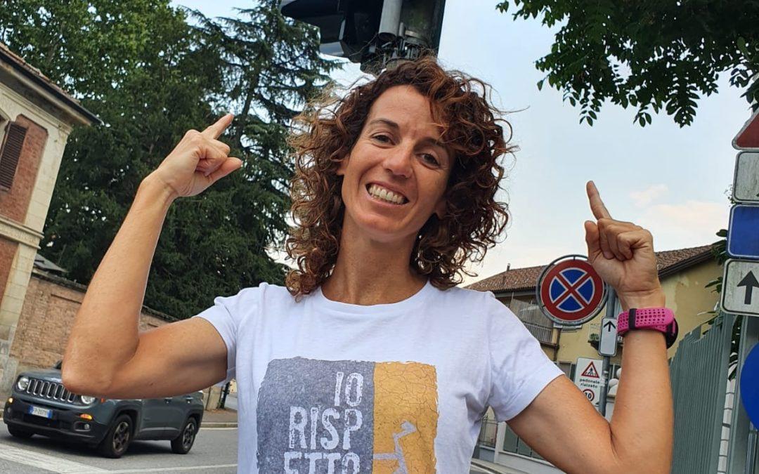 Paola Gianotti a TORINO ha inaugurato i cartelli di ATTENZIONE al CICLISTA SULLE STRADE