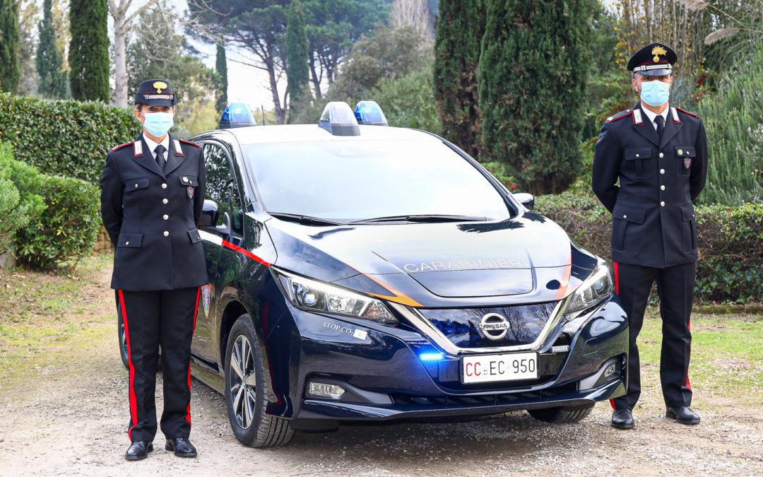 52 Nissan LEAF in dotazione all'Arma dei Carabinieri
