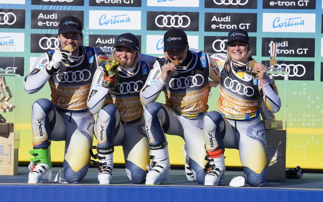 La Norvegia conquista il primo oro