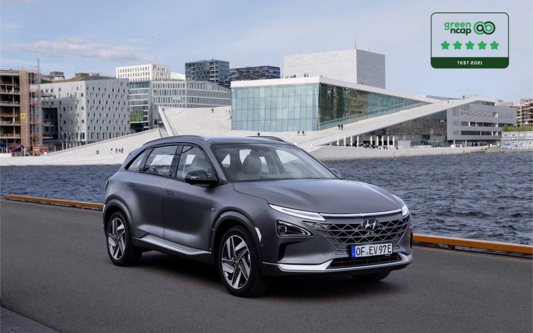 Hyundai NEXO ha conquistato  le cinque stelle Green NCAP