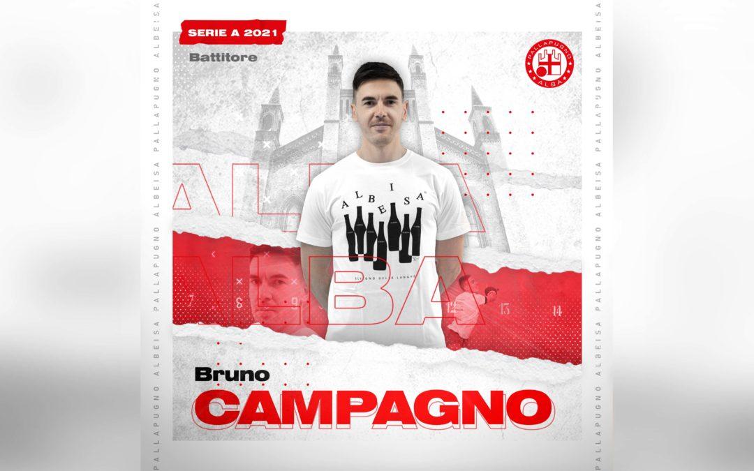 Bruno Campagno è il battitore della Pallapugno Alba