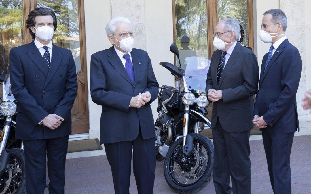 PRESENTATE AL PRESIDENTE MATTARELLA LE NUOVE MOTO GUZZI