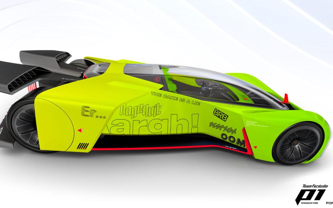 L'Ovale Blu trasforma l'auto da corsa vituale P1 in un entusiasmante simulatore di gioco