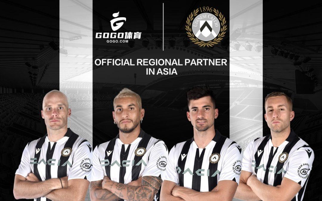 Udinese Calcio annuncia GOGO Sports come nuovo partner regionale ufficiale in Asia