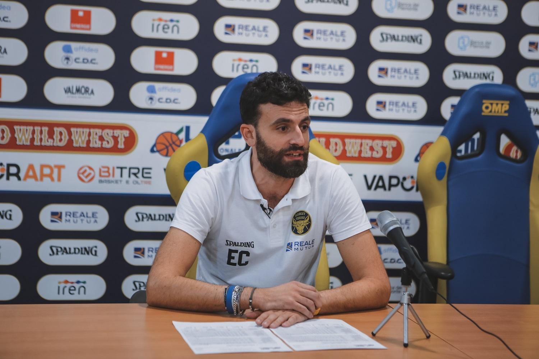 Coach Casalone ha presentato la sfida contro Pallacanestro Cantù