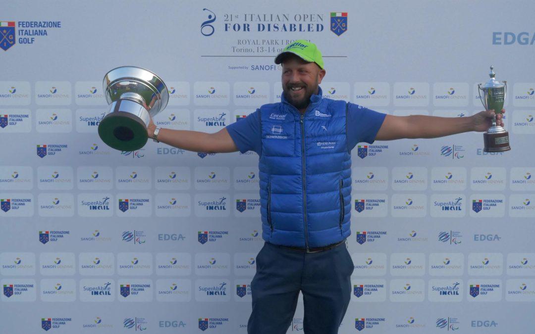 Open d'Italia Disabili: Tommaso Perrino si conferma campione